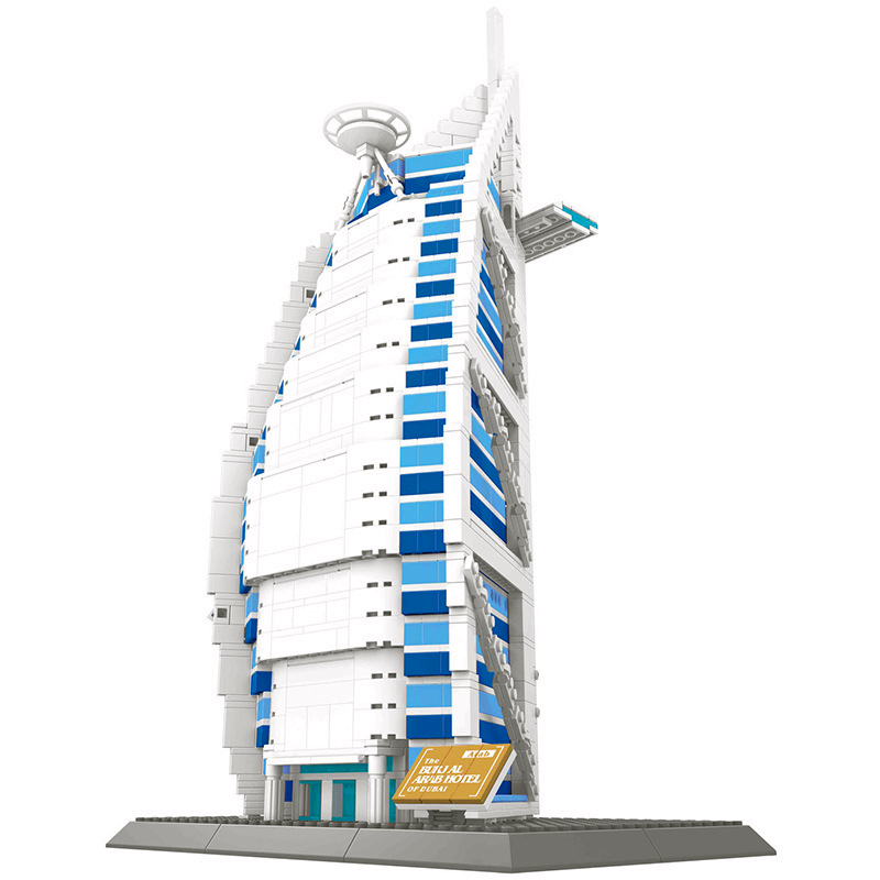Ihram Kids For Sale Dubai: WANGE Architecture Dubai Burj Al Arab Building Blocks Sets