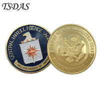 US (Central Intelligence Agency) CIA Coin 40g/pc, Colorful Pure Gold Coin 40*3mm Military Metal Coin as Commemorative Coin
