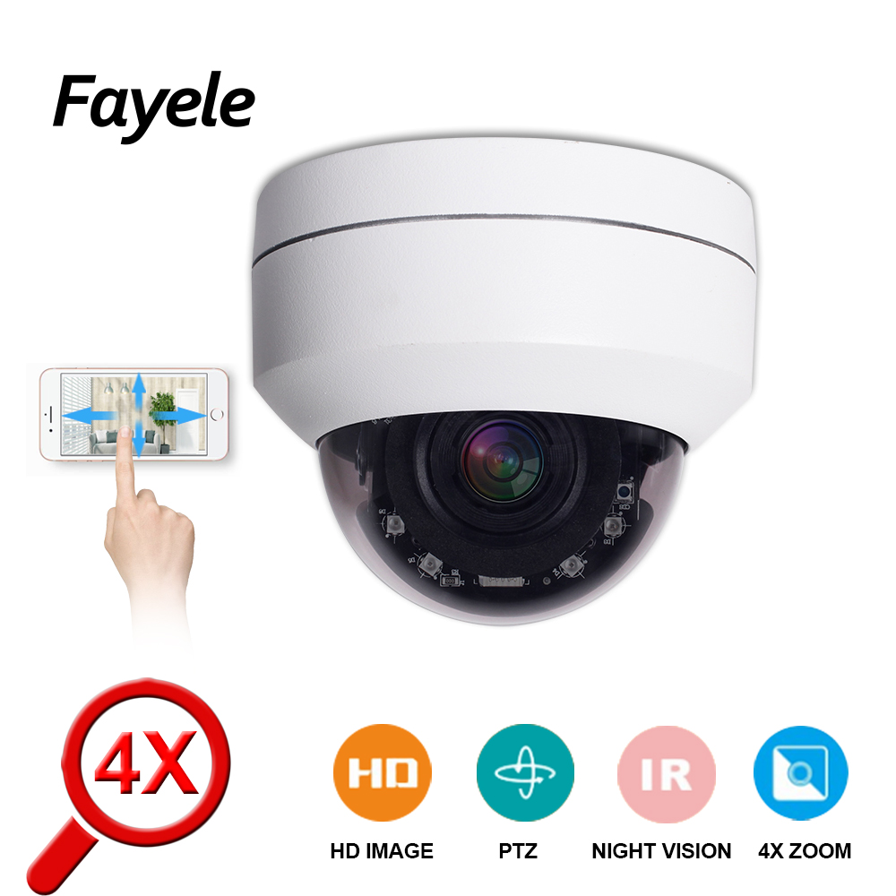 POE 5MP Speed ​​Dome PTZ-Kamera MINI HD 1080P H.265 CCTV-Sicherheit IP-Kamera 4facher Zoom Motorlinse 2MP Pan Tilt IR 50M P2P ONVIF