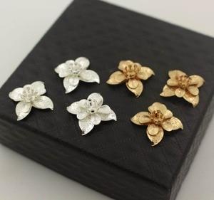 Image 3 - Leaf Flower Stamens Charms Brass Metal Findings DIY Stuffs DIY Jewelry Accessories Choose Colors