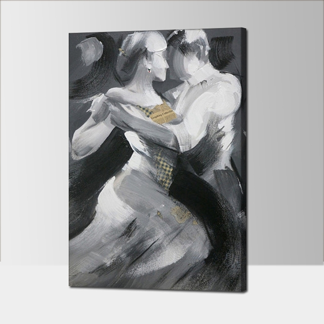 100% Hand Painted Home Decor Painting Calligraphy Tango Dancer Modern  Abstract Figure Painting On Canvas
