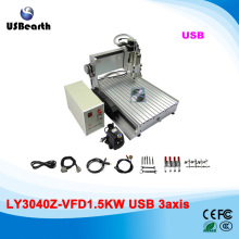 Mini CNC Machine 3040 1500w water cooled desktop cnc router with usb port