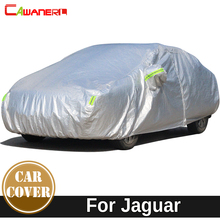 Cawanerl For Jaguar XF XK XKR X-TYPE XFL Thicken Cotton Car Cover Outdoor Anti-UV Sun Shade Rain Snow Hail Protection Auto Cover