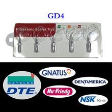 5 pcs/lot Dental Ultrasonic Scaler Tip GD4 for DTE/ Satelec/ NSK Varios/ Gnatus/ Bonart/ Rollence-S/ HU-FRIEDY/ DENTAMERICA