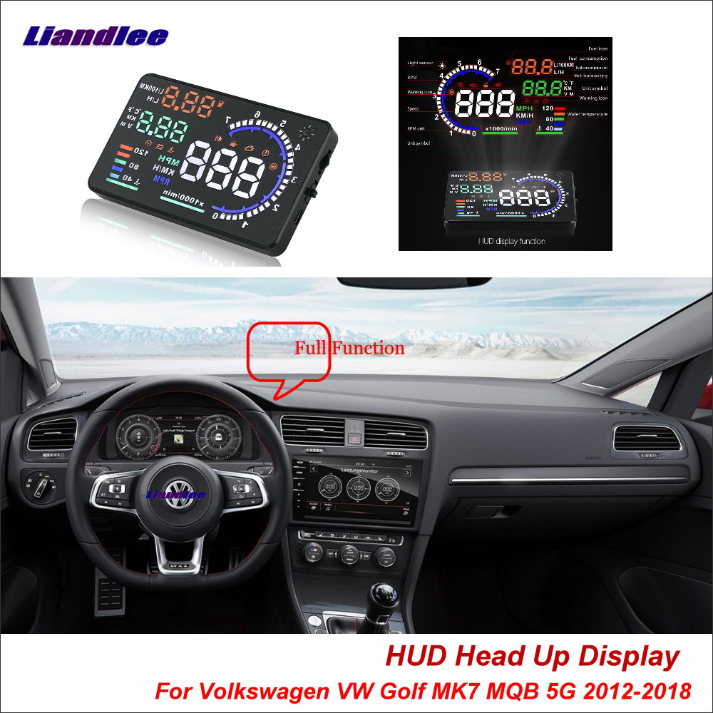 Liandlee For Volkswagen VW Golf 4 5 6 7 MQB 5G 2012-2018 Safe Driving Screen OBD Car HUD Head Up Display Projector Windshield 1pcs for samsung original 18650 25r inr1865025r 20a discharge lithium batteries 2500mah electronic cigarette power battery