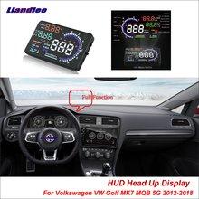 цена на Liandlee For Volkswagen VW Golf 4 5 6 7 MQB 5G 2012-2018 Safe Driving Screen OBD Car HUD Head Up Display Projector Windshield