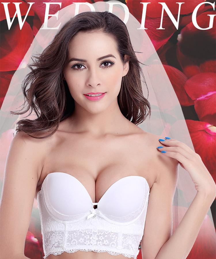 6abb8155f01f9 New Exquisite Wedding Dress Bras For Women Bridal Push Up Bra ...