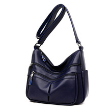 Hot sale handbag women casual tote bag female large shoulder messenger bags high quality leather sac a main Crossbody 2019 C879