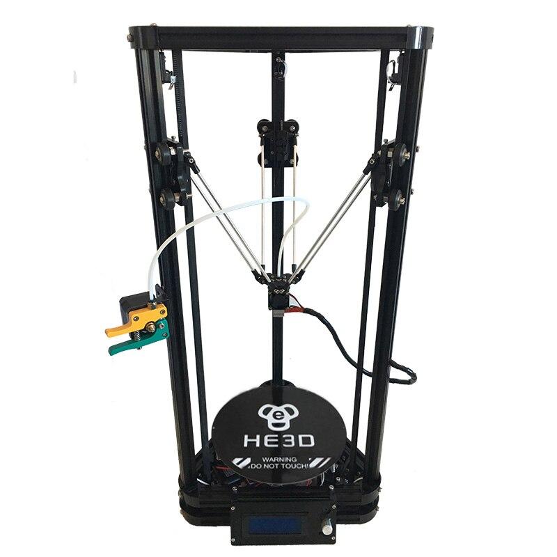 HE3D K200 delta DIY kit autoleveling full metal MK8 melhorado extrusora impressora 3d kit de impressora delta com heatbed