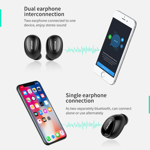 Image 3 - AWEI T5 TWS Bluetooth Earphone Headphone With Mic True Wireless Earbuds Bluetooth 5.0 Headset With Charge Case For iPhone Xiaomi