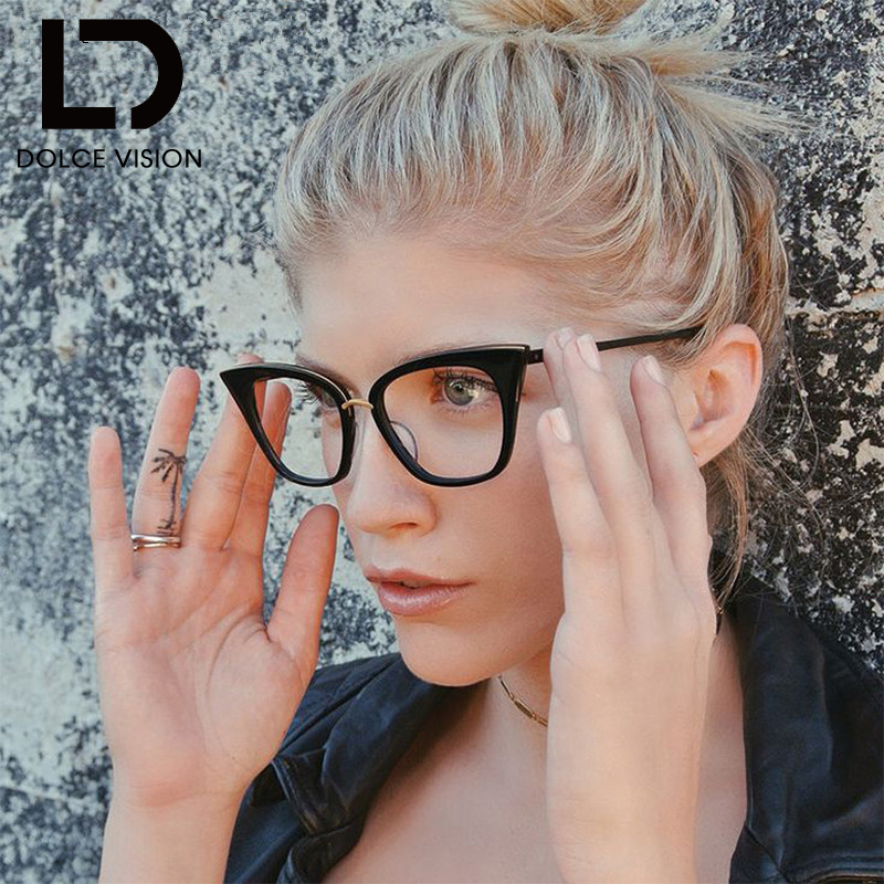 b216a17a9075 DOLCE VISION Frame Cat Eye Sunglasses Women Retro Flat Lens Glasses Elegant  Designer Brand Female Classic Oculos 2018 New Shades-in Sunglasses from  Apparel ...