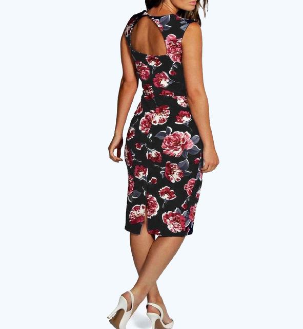 Vintage Sleeveless Knee-Length Dress