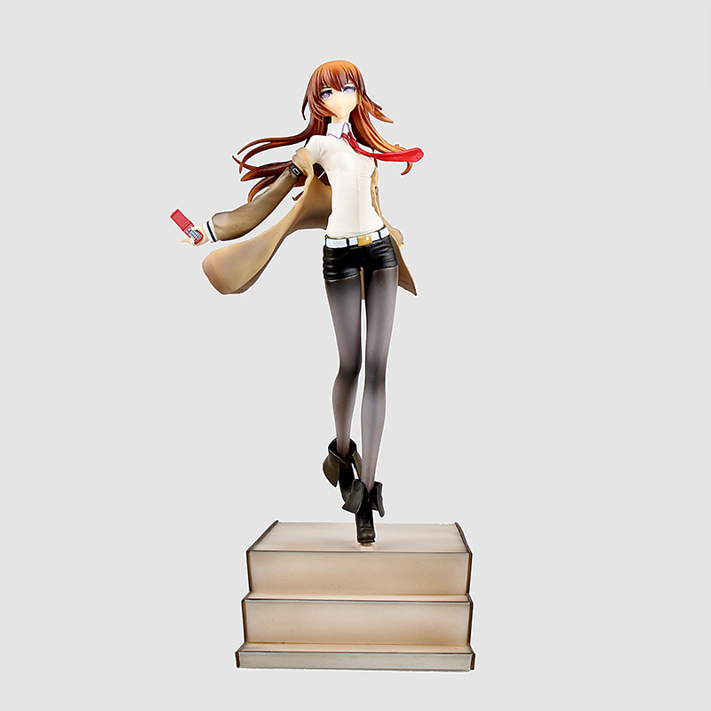 Anime Steins Gate Makise Kurisu Laboratory Member 1/8 Scale Prepainted PVC Action Figure Collection Model Kids Toys Doll 25cm