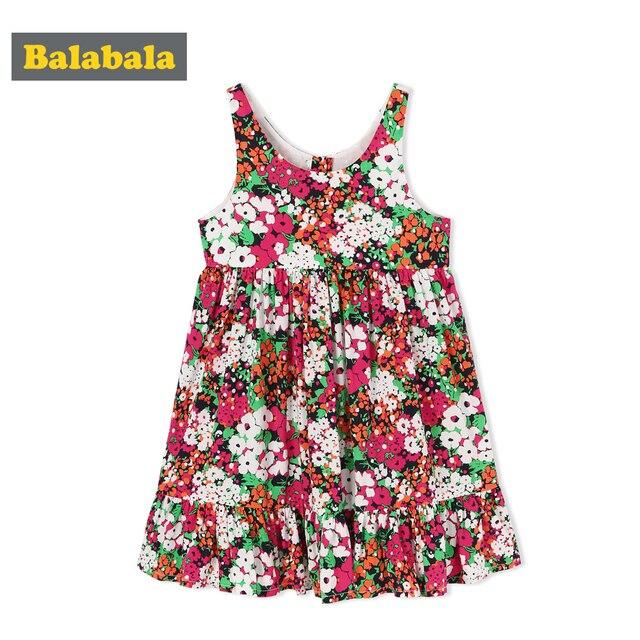 fd500e66d73719 Balabala peuter meisjes casual mouwloze jurken meisje jurk party kids  kleding kinderen kleding zomer zoete bloemen