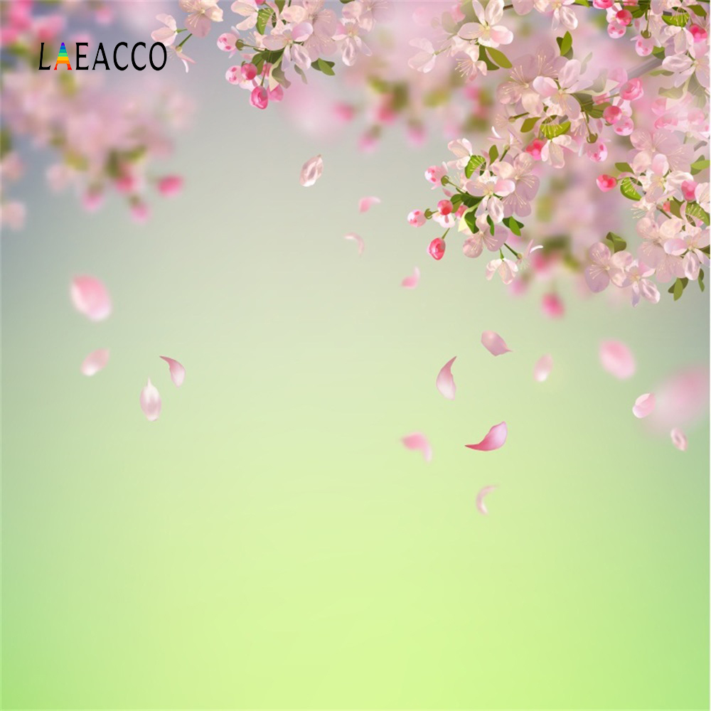 купить Laeacco Blossom Flower Petals Bokeh Baby Newborn Portrait Photo Backgrounds Customized Photographic Backdrops For Photo Studio