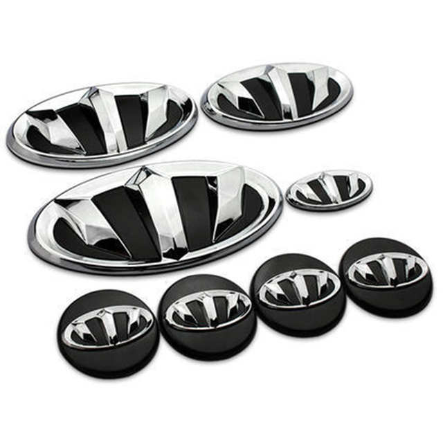New Refit Badge Logo Car Sticker Bhon Emblem Rio Sportage For Hyundai Kia Ceed Cerato K7 K5 K3 K2 Soo Sonata Styling
