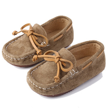 Spring Autumn Children Leather shoes Genuine leather Loafers Soft Breathable Boat Kids Flats Boys Girls Baby 02B