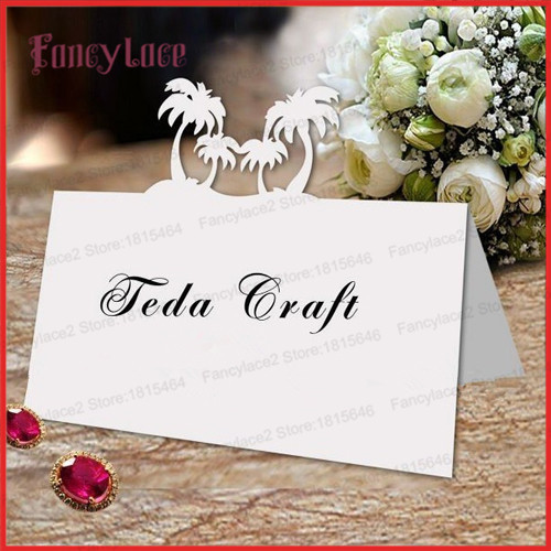 Aliexpress  Buy 50pcs Place Card Name Cards Beach COCO Tree