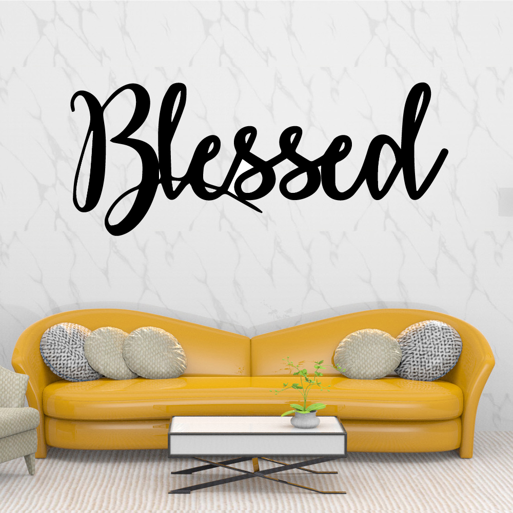 Personalized blessed letter Waterproof Wall Stickers Art Decor Home Children House Bedroom Nursery Decoration