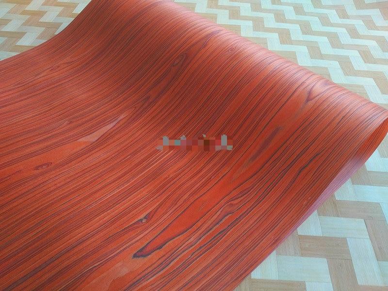 Technical Veneer Sliced Wood Engineering Veneer E.V. 62cm X 2.5m Red Santos Rosewood C/C