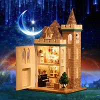 DIY Doll House Minatures Wooden Dollhouse Mini Casa With Furnitures Building Kits Villa Assembly Model Toys For Children K012 #E