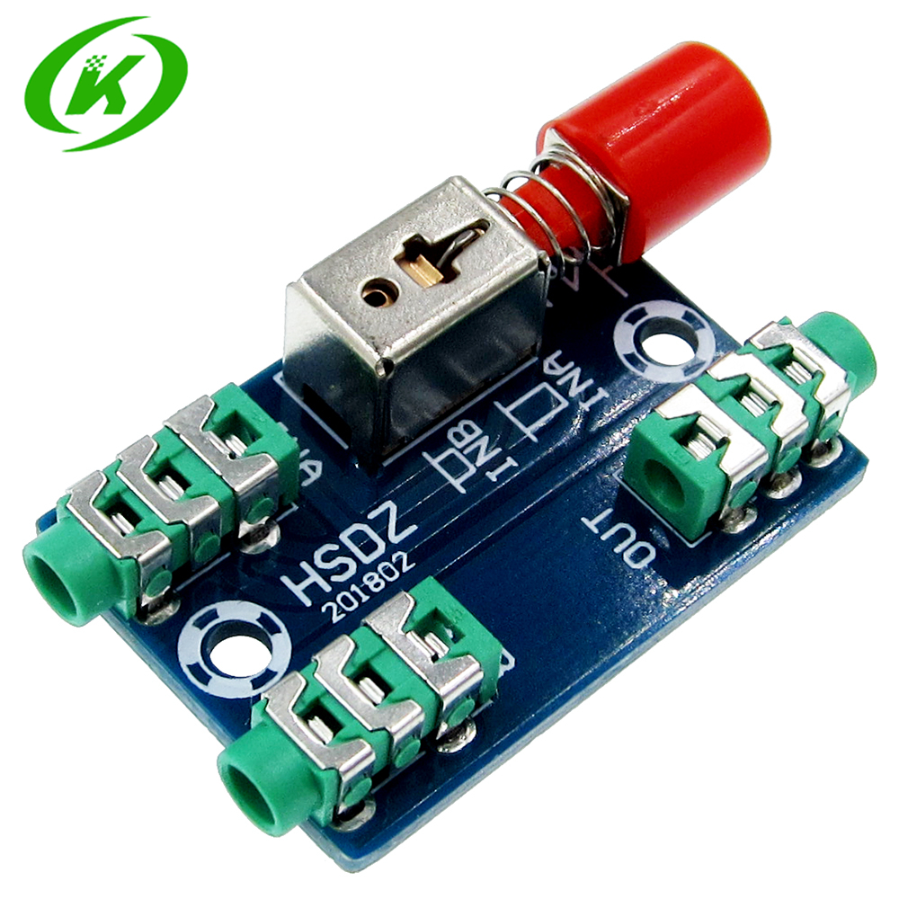 Audio Switching Board 3.5mm A / B Audio Input Block Optional Select Output Type Module