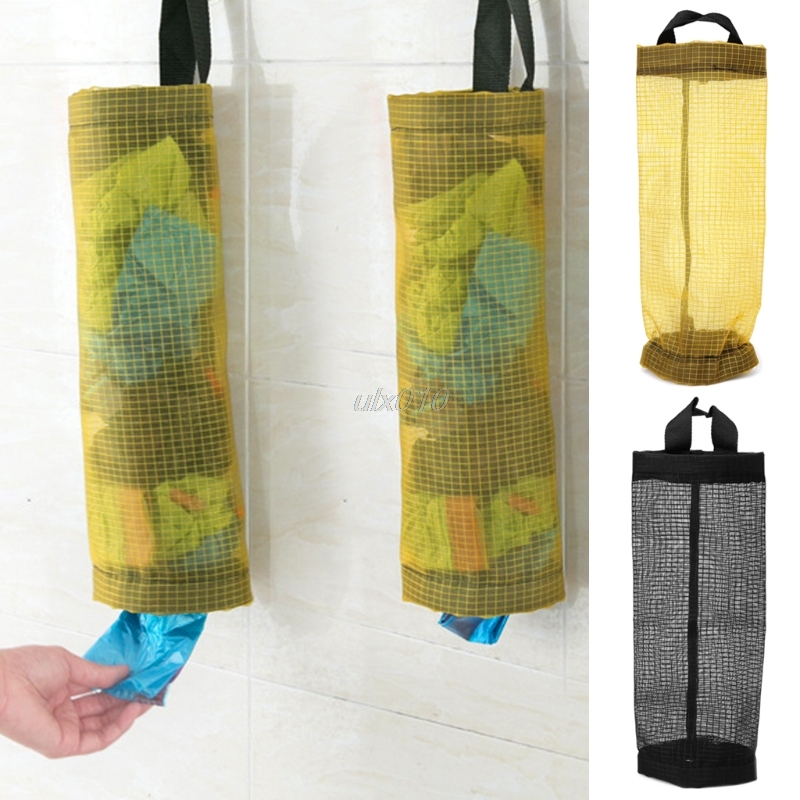 Plastic Bag Holder Dispenser Hanging Storage Trash Garbage Bag Kitchen Organizer Tool Bag S09 Wholesale&DropShip