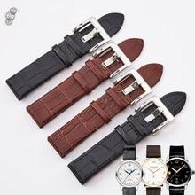 5f393a86d44 Acessórios de Moda Pulseira de Relógio preto 20mm 22mm Relógio de Couro  Cinta Pin Fivela Brown Watch Band para Montblanc