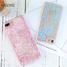 KISSCASE Bling Quicksand Phone Case For iPhone 5 5S SE 4S Capa QuickSand Cute Girl Cases For iPhone 6 6s 7 8 Plus Accessories(China)