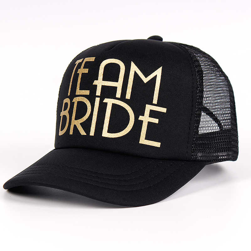... Most Popular Team Bride Baseball Cap Mesh Hat BRIDE Gold Print Woman  Party Holiday Ready to ... 6abf7dd70d2