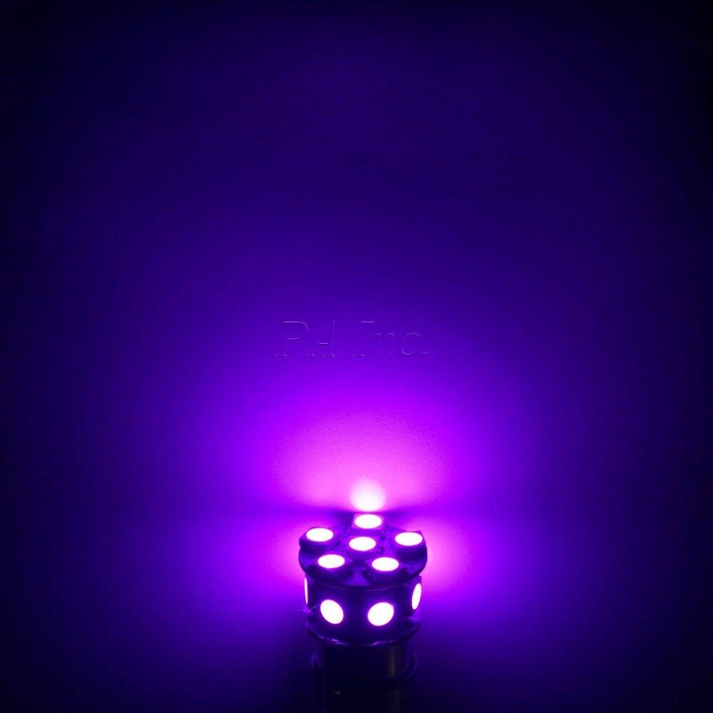 PA LED 10PCS x Car LED Lamp 13SMD T20 7440 5050 LED Car Turn Brake Light Stop Light Lamp Bulb LED 12V PURPLE 10pcs car led t20 7443 w21 5w 7440 13 smd led 5050 13smd led clearance lights brake light bulb lamp white red yellow blue 12v