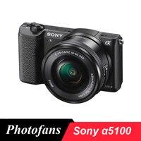 Беззеркальная цифровая камера sony Alpha a5100 с мм объективом 16 50 мм (черный)