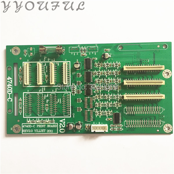 In stock Large format printer Xenons head board 4740D-C Print board REV2.0 YIILIJET 2011 for Epson DX7 carriage board 1H