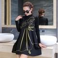 2016 new maternity dress A dress casual fashion out Buru Yi lactating skirt