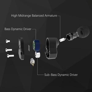 Image 4 - RevoNext QT2 לשלושה נהג באוזן HIFI להסרה Wired אוזניות סטריאו אוזניות עם דינמי ומאוזן אבזור היברידי נהג