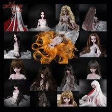 Cataleya 1/3 1/4 BJD волосы высокая температура длинные серые прямые и Курчавый BJD парик SD для BJD куклы