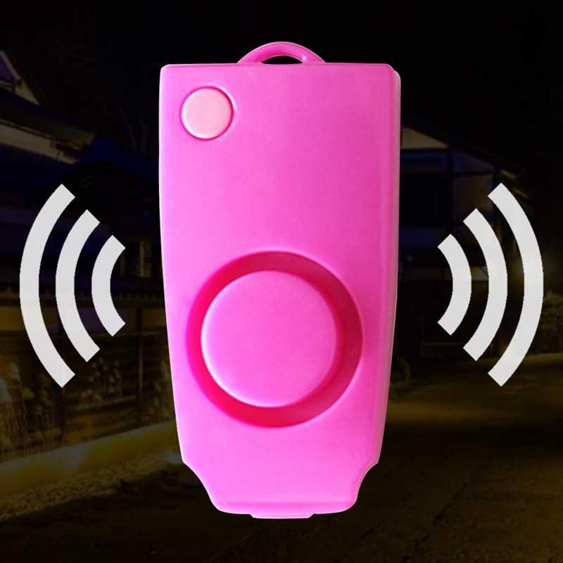 Anel Chave do carro Chaveiro Chaveiro Alarme de Segurança Pessoal Loud Dispositivo de Alerta de Segurança Pessoal Chaveiro Ataque de Pânico-Car styling