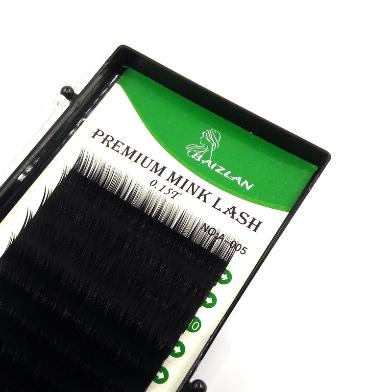 0 15 All Size Eyelash Extension Mink Black Individual Eyelash Extension Single Natural Eyelashes Fake False eyelashes in False Eyelashes from Beauty Health