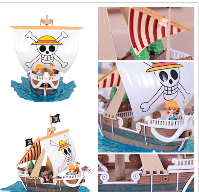 SAINTGI One Piece Going Merry Ship Action Figure Special Japanese Anime Figure pvc 19CM Model free shipping saintgi one piece pop sabo action figure 10 years special japanese anime figure pvc 25cm model toys free shipping