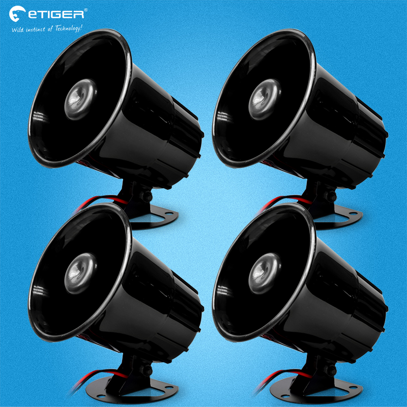 Wired Alarm Siren Horn Outdoor for Home Alarm System Security loudly Emit sound siren 110db