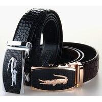 100 Cowhide Men Belt Casual Business Mens Belt For Jeans Suits Black Genuine Leather Belt With