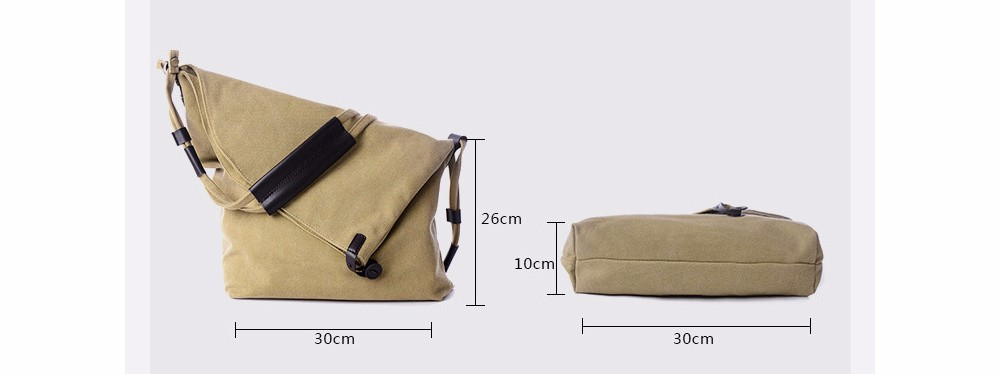 Vintage Canvas Shoulder Bag European And American Style Casual Unisex Handbag Men Women Retro Large Capacity Messenger Bags TTOU