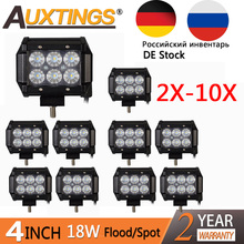 "Auxtings 2X 4X 10X PC 4 Inch 18 W LED Luce di Lavoro 12 V Lavoro lampada 4 "" Light Bar Spot Flood Per Camion Barca Trattore 4×4 Offroad auto"