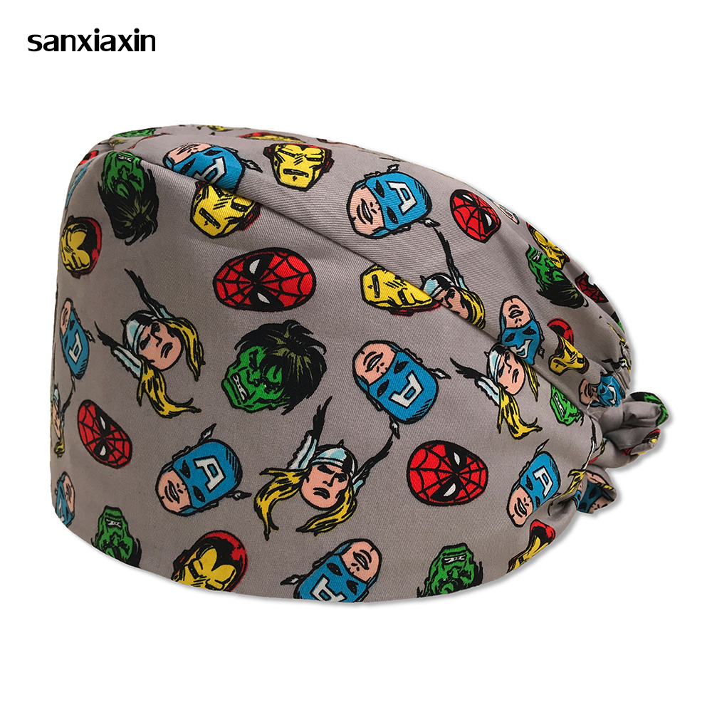 Pharmacy Scrub Surgery Cap Nurse Doctor Surgical Unisex Hospital Adjustable Medical Cap Scrub Lab Clinic Dental Operation Hat