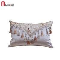 British Royal Custom Large Yarn Dyed Jacquard Fabric Home Hotel Decorative Pillowcases Luxury Car Sofa Cushion