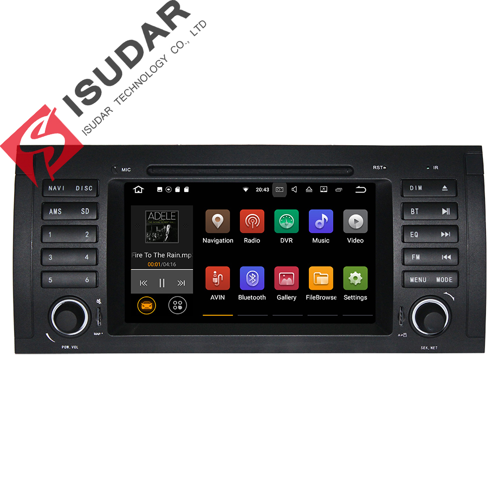 Android 7.1! 7 Inch In Dash Car DVD Player Multimedia For BMW/E39/X5/M5/E53 With 2G RAM Canbus Wifi GPS Navigation Radio original and new dv53u11h single car dvd mechanism for acure bmw car dvd navigation system