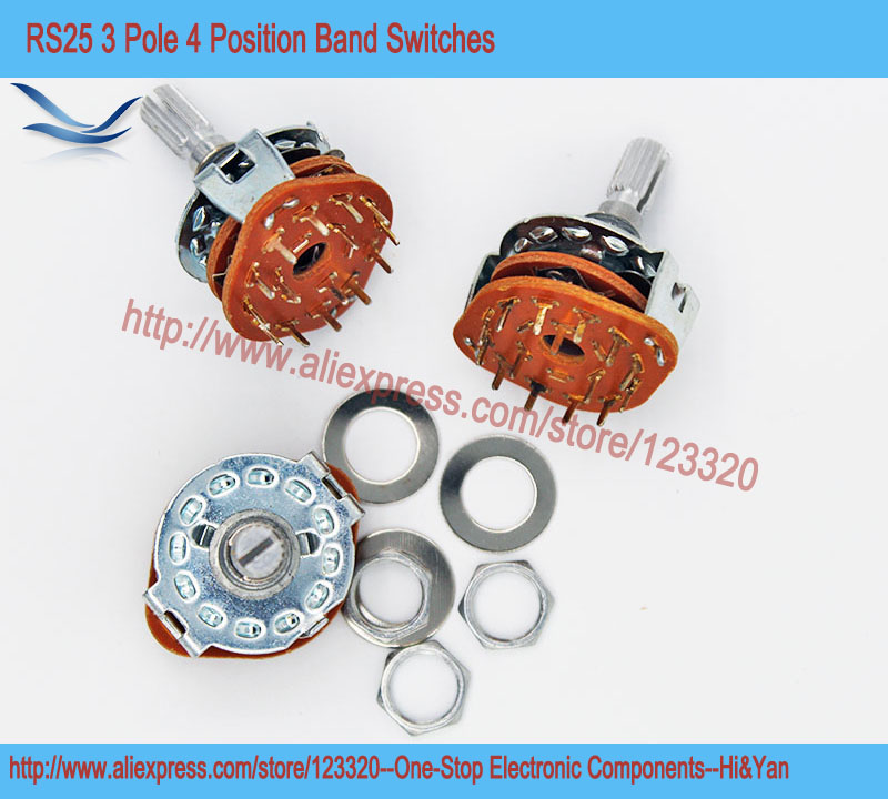 5pcs Lot Rs25 3p4t Band Switch Band Channel Rotary