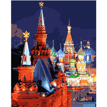 The night in Moscow Landscape DIY Digital Painting By Number Modern Wall Art Canvas Painting Christmas Gift Home Decor 40x50cm the tretyakov gallery in moscow painting