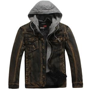 Image 5 - Winter Thick Fleece Denim Jacket Men Jeans Coat Cargo Jackets Streetwear Casual Vintage Biker Coat for Men Blue S117