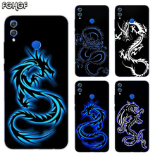 Beautiful Dragon Sketch Frosted Fundas Soft TPU Print Case For Huawei Honor V20 8X 7 8 9 10 lite 7X 8A V9 Play Cover